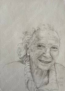 drawing by bastiaen vries of Lidia pencil on paper
