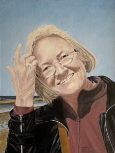painting of Bastiaen Vries from Sacha woman on the beach