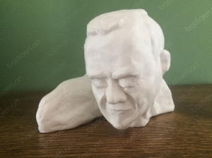 sculpture of Bastiaen Vries 2020 reading man