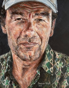 painting in oil of Etienne Boyer in oil on canvas made in 2021