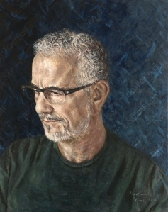oil painting by Bastiaen Vries of Franco Tirletti done in 2021