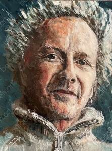 Portrait by Bastiaen Vries, bastiaen art, painted Titus in 2021, study for portrait painting, oil on board. alla prima, wet-on-wet painting. small painting. to get the right proportions and light